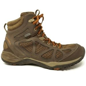 Merrell Womens Hiking Boots 9 Brown Select Dry